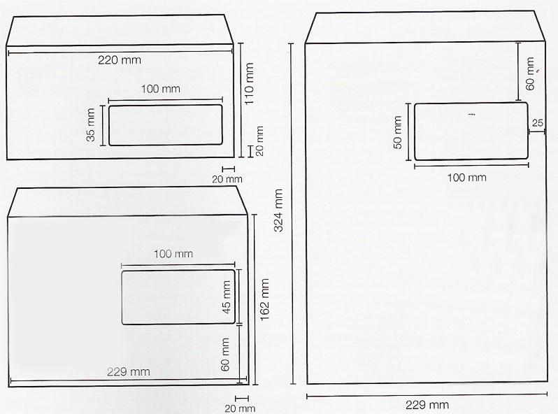 Enveloppe for Enveloppe c4 avec fenetre